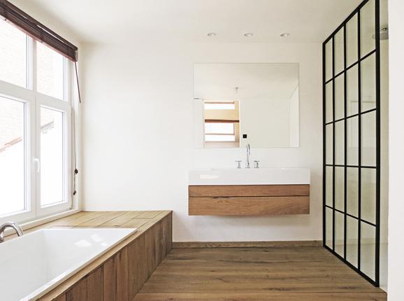 Van halewyck marco architects - Houten lambrisering plafond badkamer ...